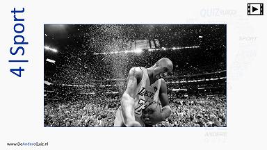 Pubquiz bestellen met de ronde sport met Kobe Bryant