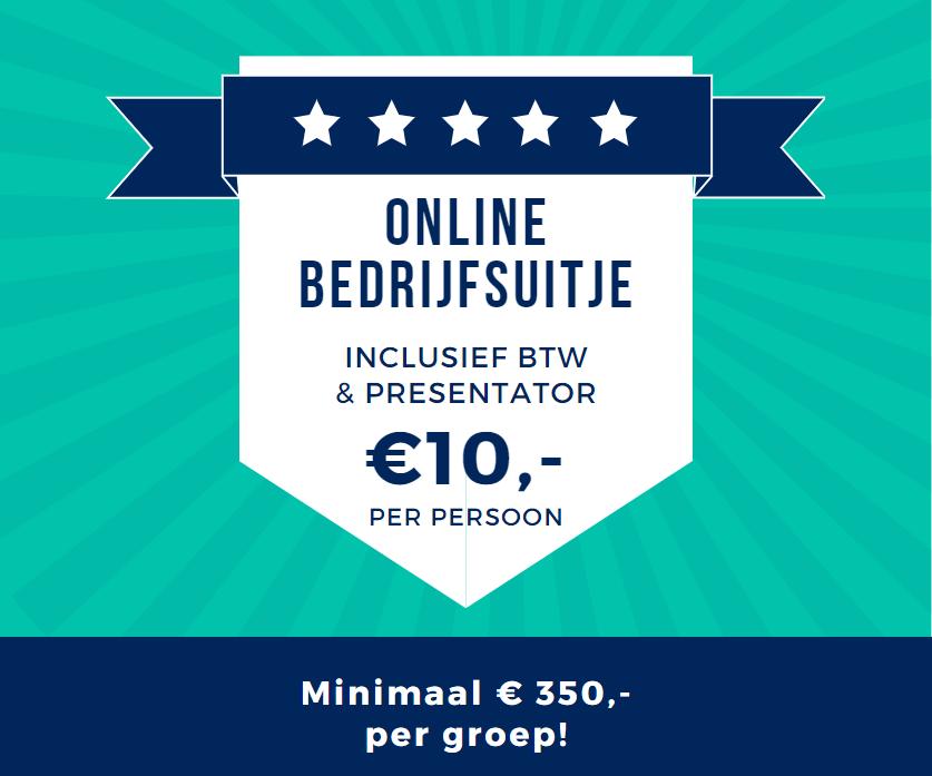 10 euro per persoon voor een online bedrijfsuitje met hilarische pubquiz