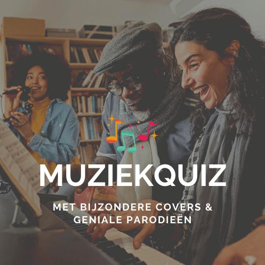 Bestel onze muziekquiz met bijzondere covers, creatieve quizvragen en leuke parodieën