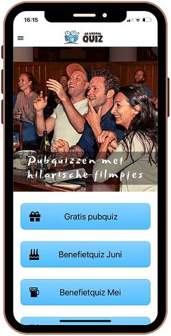 Mobiele app om pubquiz na te kijken voor presentator automatisch