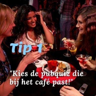 Pubquiz in cafe of restaurant tip 1